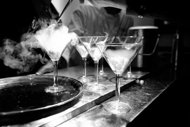 Popular San Francisco speakeasy Bourbon & Branch teaches classes on using liquid nitrogen to liven up cocktails.
