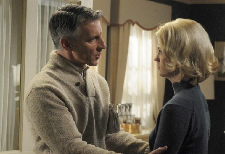 Henry Francis (Christopher Stanley) and Betty Draper (January Jones) on AMC's