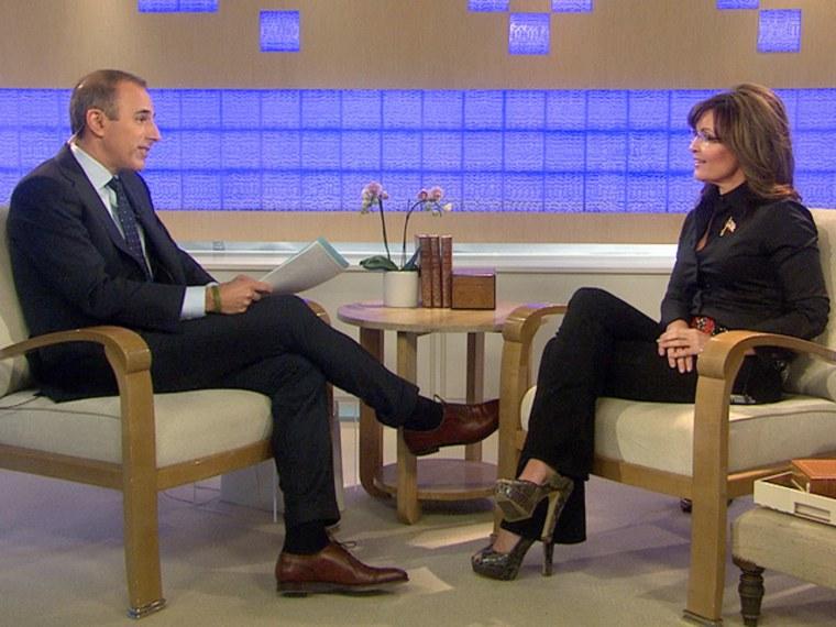 Matt Lauer interviews former Alaska governor Sarah Palin on TODAY.