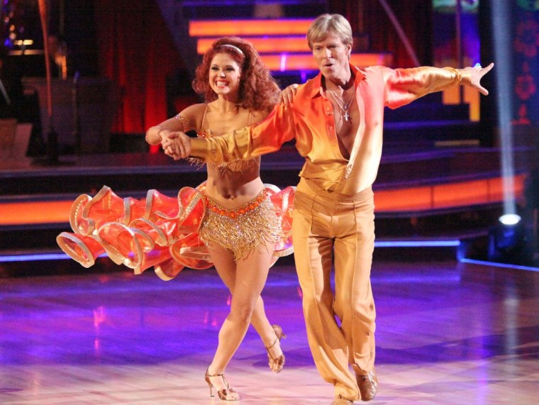 """Actor Jack Wagner and pro partner Anna Trebunskaya were eliminated from \""""Dancing\"""" on Tuesday."""