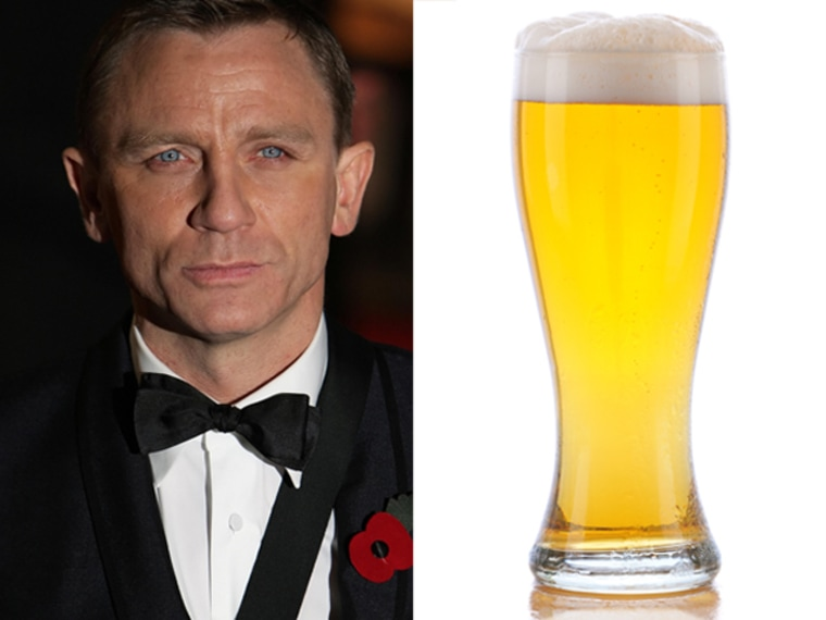 Actor Daniel Craig as James Bond. Here's hoping he diversifies his beer choices.