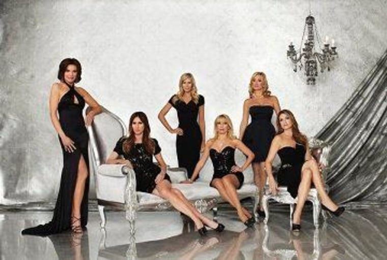""\""""The Real Housewives of New York City"""" returns to Bravo in June with some new additions. Pictured here, left to right, are LuAnn de Lesseps, Carole Radziwill, Aviva Drescher, Ramona Singer, Sonja Morgan and Heather Thomson.""760|511|?|en|2|db5a95993c093b8bf497f60808387aec|False|UNSURE|0.34662941098213196