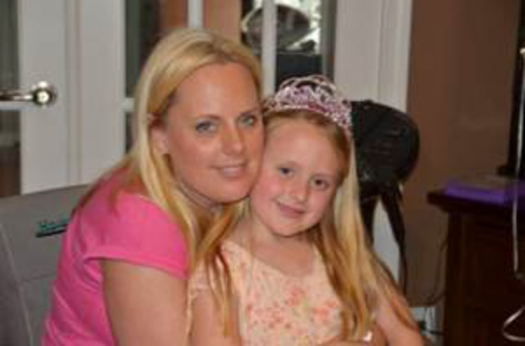 Happy birthday, baby: Stephanie Decker, with daughter Reese, just wants to get back to being an active mom.