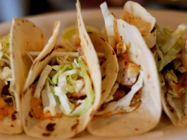 Fish tacos at The Marina Cafe & Pub in Newport, RI
