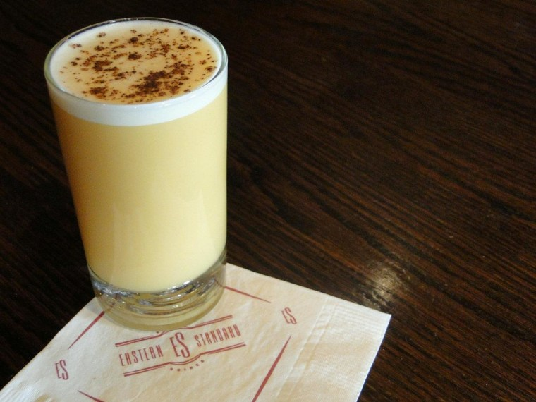 The Flip Royal features ginger liqueur with a house-made rooibos tea syrup and Angostura bitters -- along with the egg, of course.