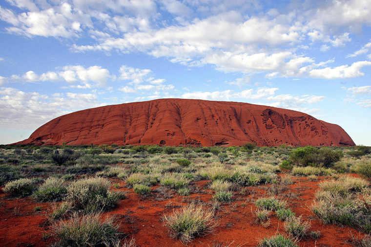 The sacred monolith of Uluru, or Ayers Rock, is located in Central Australia's Uluru-Kata Tjuta National Park, which is a World Heritage site.