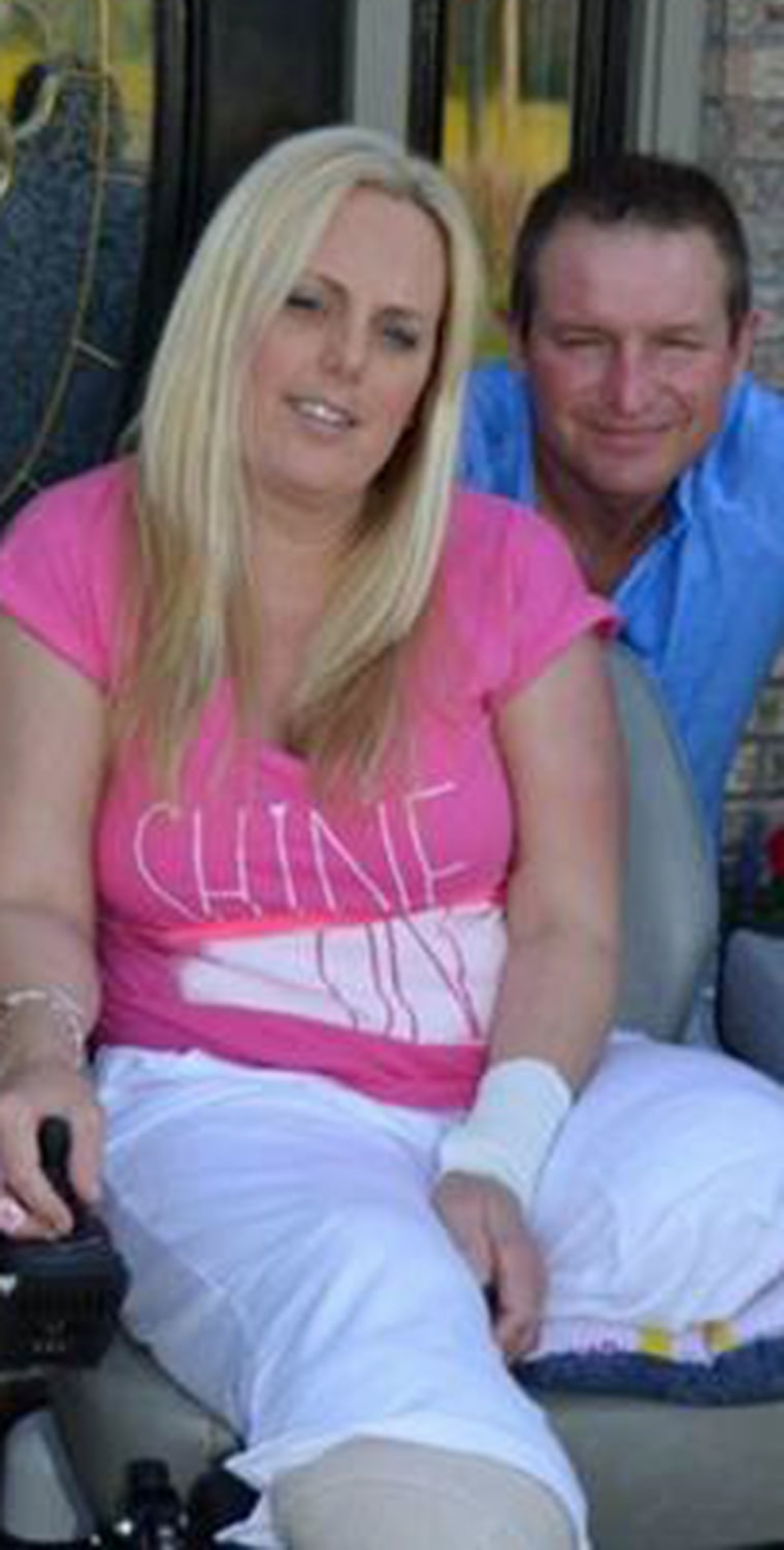 Stephanie Decker and her husband Joe, at home in Indiana.