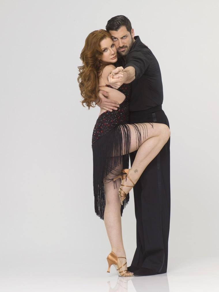 Melissa Gilbert with dance partner Maksim Chmerkovskiy