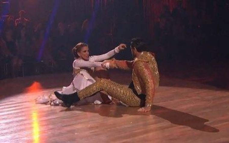 """Melissa Gilbert's \""""Dancing\"""" partner took a tumble on Monday night's show, and some say she did, too."""