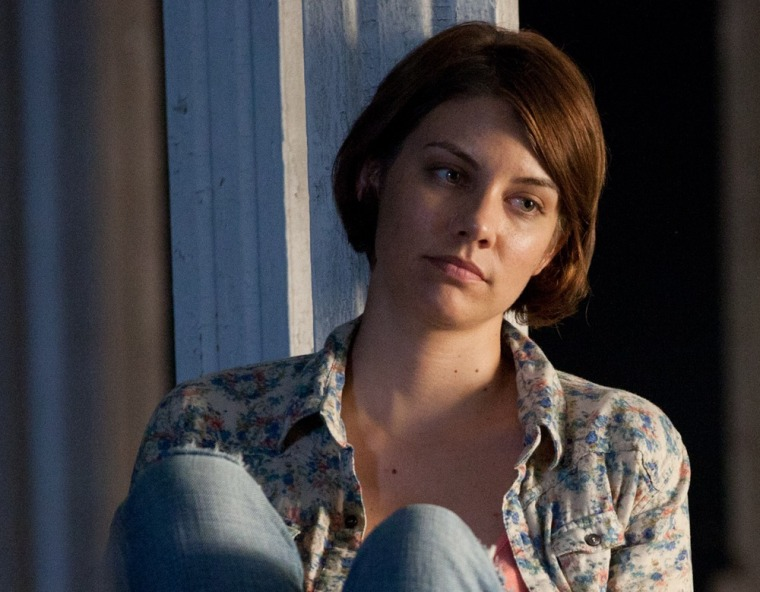 "Lauren Cohan as Maggie on \""Walking Dead.\"""