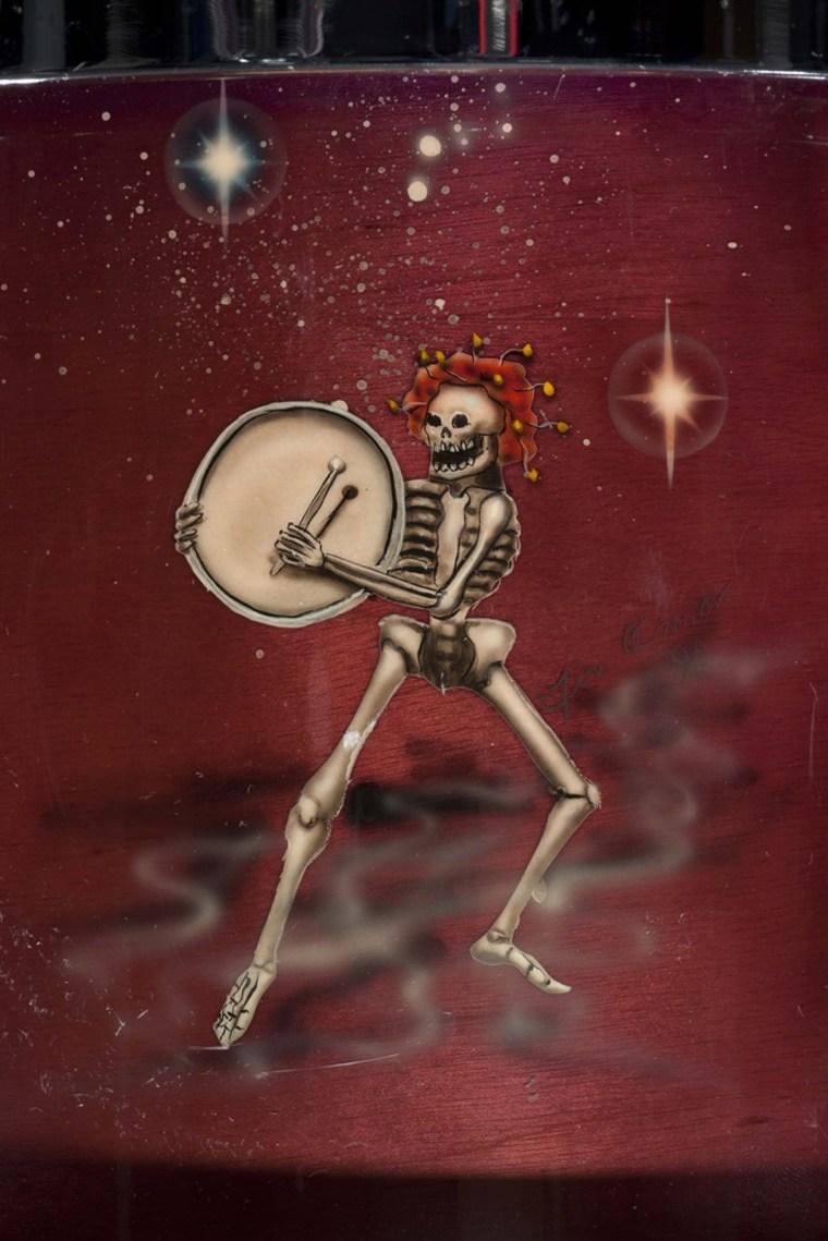 "\""Grateful Dead: The Long, Strange Trip\"" includes Mickey Hart's custom-painted drum kit."