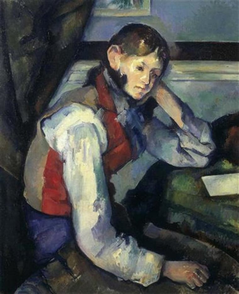 ""\""""The Boy in the Red Vest,"""" painted circa 1888, by Paul Cezanne""760|937|?|en|2|618c63e8883d21a3e3df448a0a62547f|False|UNLIKELY|0.38036951422691345