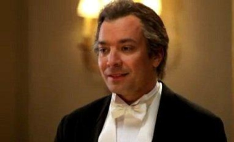 "The demanding Lord Fallon needs a joke on \""Downton Sixbey.\"""