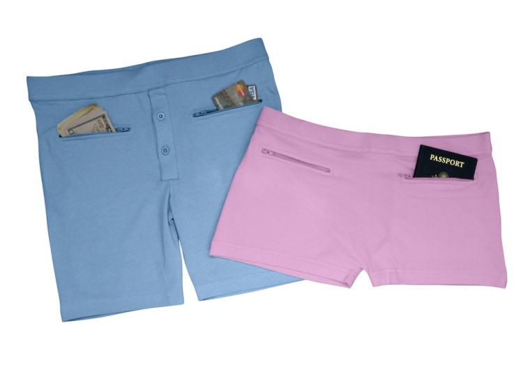 This underwear with hidden pockets from Clever Travel Companion gives travelers a place to stash their cash and other valuables.