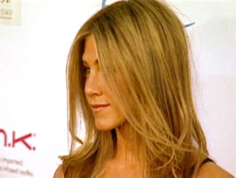 Chinspiration? More people are turning to plastic surgery to achieve a strong-jawed look like Jennifer Anniston (whose shapely chin is all natural).