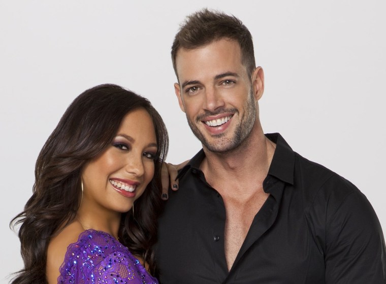 William Levy, seen here with pro partner Cheryl Burke, injured his ankle during weekend rehearsals.