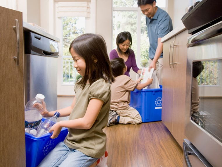 The family that sorts together, stays together... 54 percent of parents say they recycle more often since having kids.