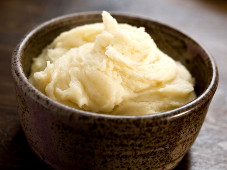 When making mashed potatoes, make sure you don't over-blend!