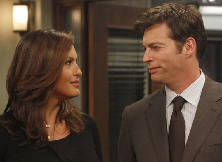 "Mariska Hargitay says that Chris Meloni's exit from ""SVU"" allowed her character, Det. Olivia Benson, to have a romantic relationship with Harry Connick Jr.'s ADA David Haden."