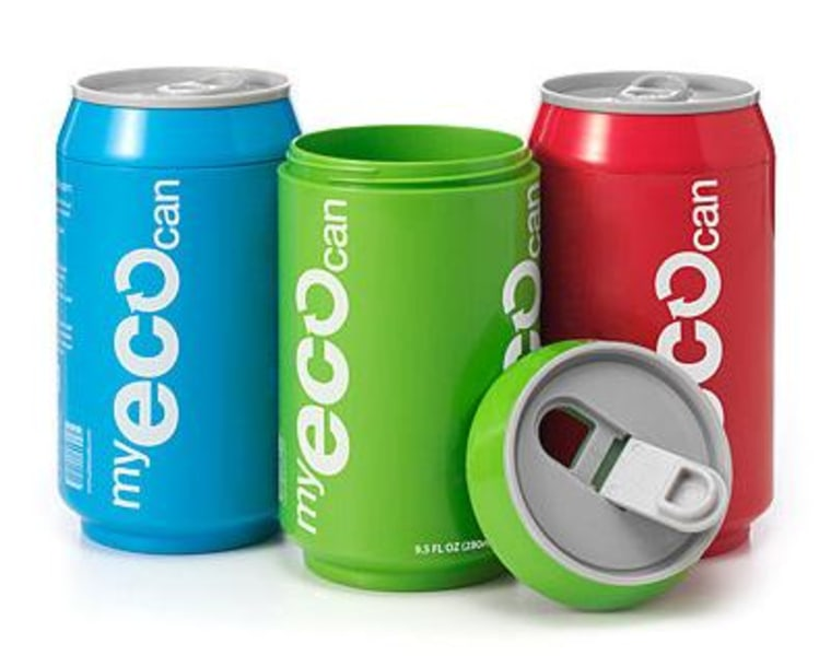 Be kind to the planet in style, with a reusable, earth-friendly can.