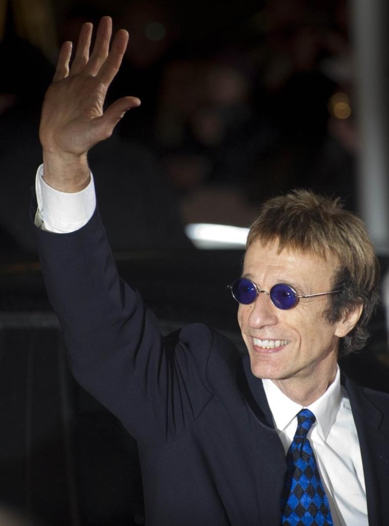 British singer Robin Gibb in 2011.