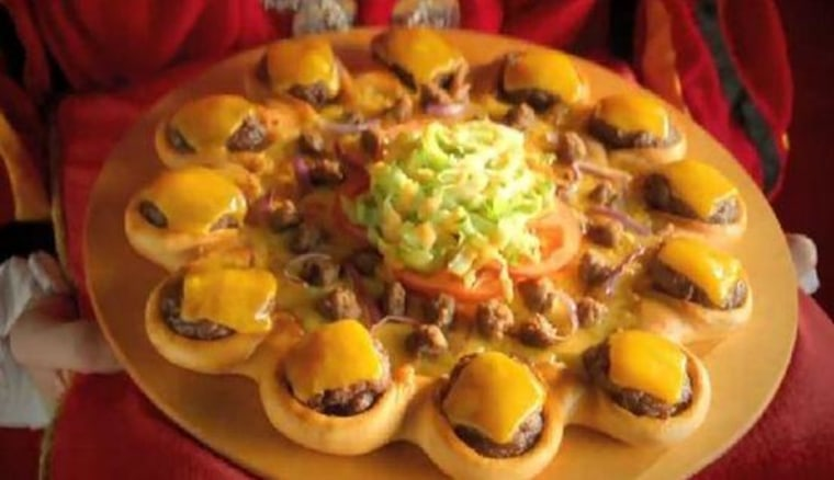 The Crown Crust pizza, the latest stuffed-crust shenanigan, features cheeseburgers.