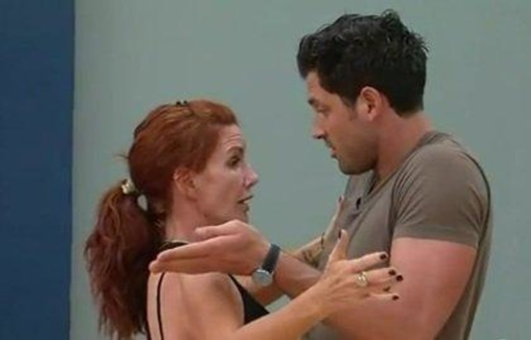 Mad Maks? According to Melissa Gilbert, the pro doesn't get any angrier than the rest of the cast.