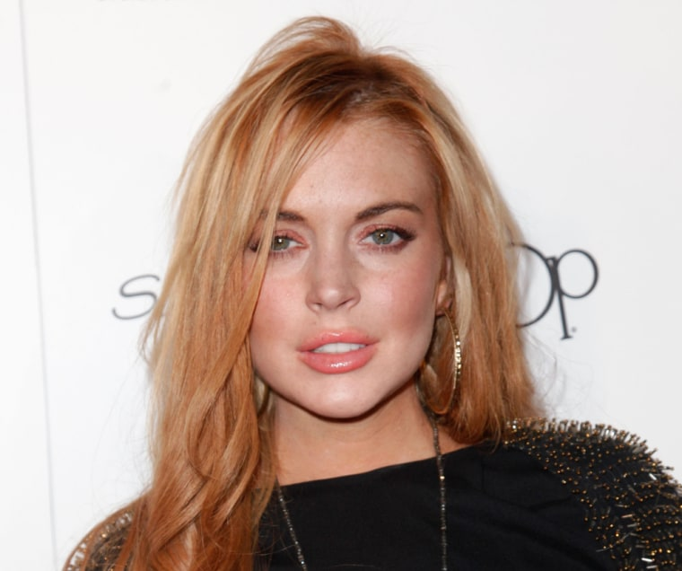 Lindsay Lohan attends Star Magazine's All Hollywood event at AV Nightclub in Hollywood, Calif., on Tuesday, April 24.