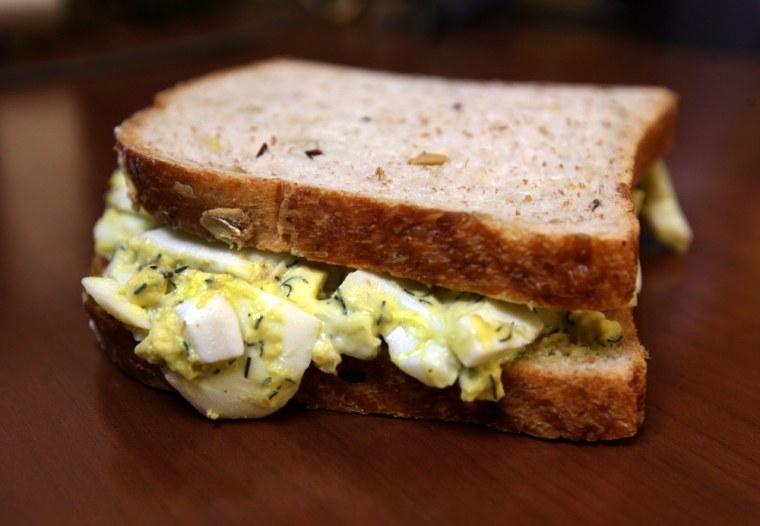 The Brooklyn Farmacy's egg salad sandwich.