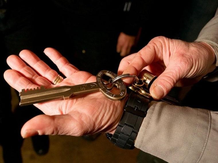 Photo of an Alcatraz cellblock key taken at Obscura Day 2011.