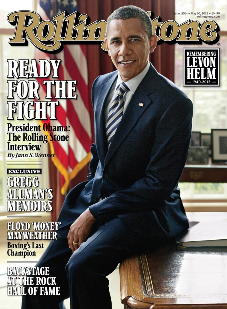 The Rolling Stone cover with President Obama. The issue hits newsstands Friday, April 27.