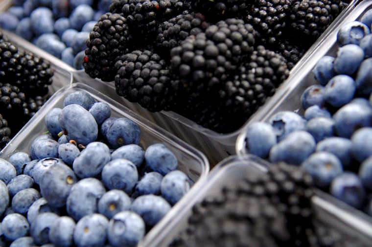 Eating more berries may be good for your brain.