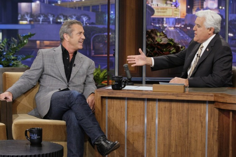 """Mel Gibson spoke out about his recent drama on \""""Tonight Show With Jay Leno\"""" on April 27."""