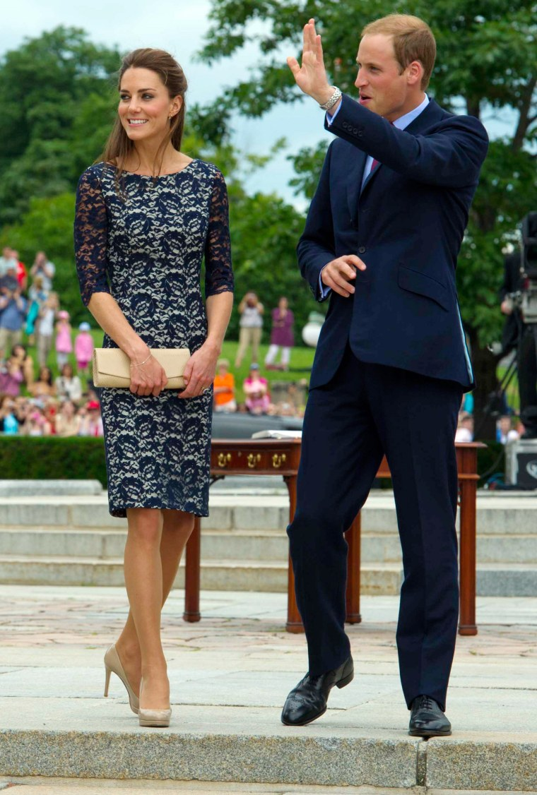 Catherine, Duchess of Cambridge made a splash in Ottawa last June when she stepped off the plane with her husband, William, in a navy, lace dress by Canadian designer Erdem.