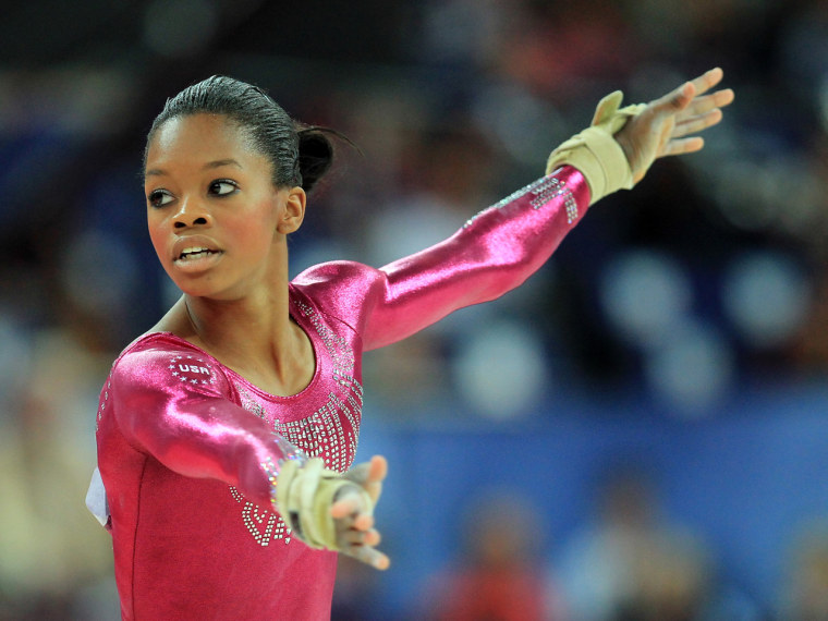 Gabby Douglas has been deflecting online commentary about her hair.