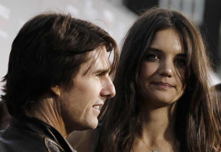 Katie Holmes, right, and Tom Cruise had their divorce finalized on Monday.