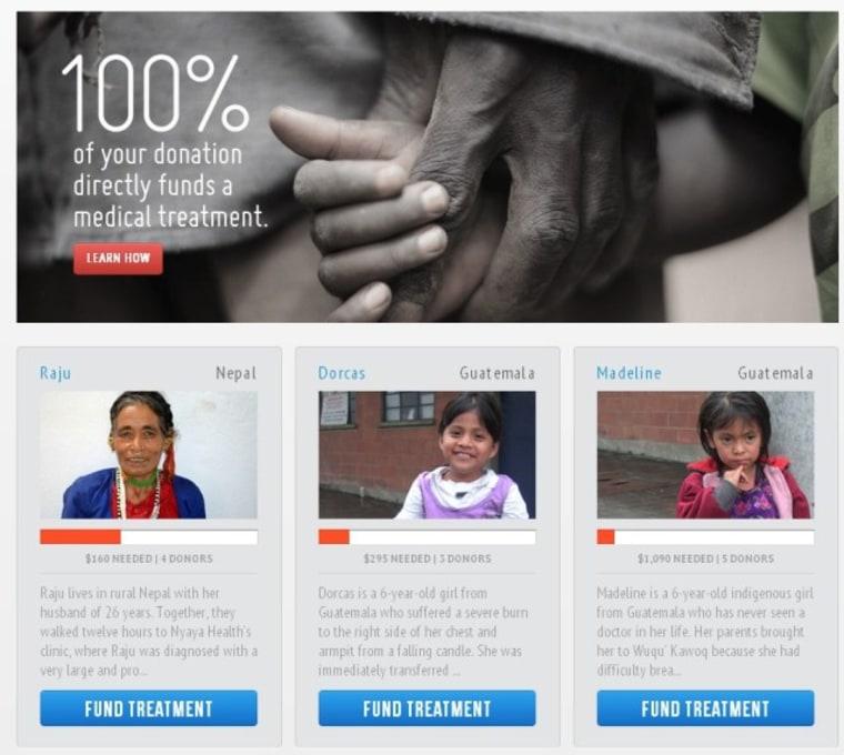 Watsi donation page