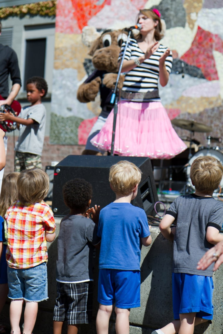 The Not-Its rock out for their pint-sized fans at a Seattle show.