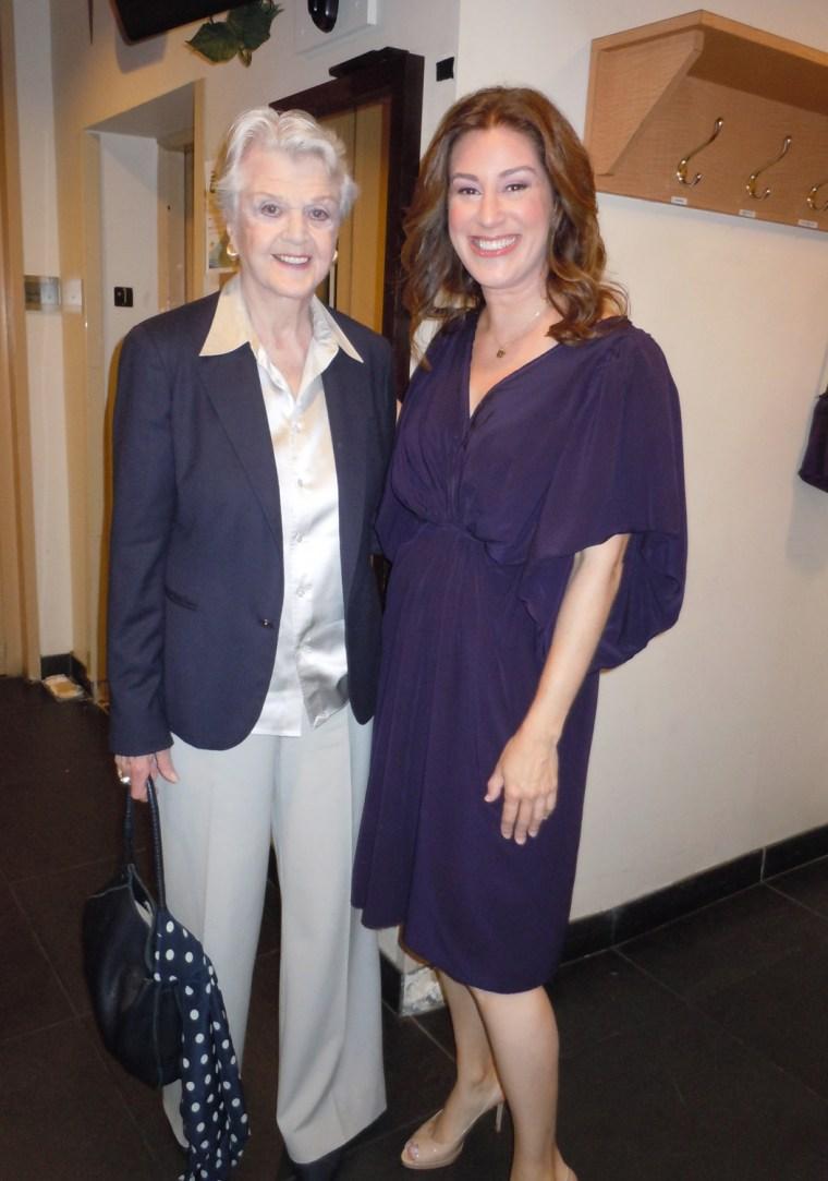 Sarah Maizes with TODAY guest actress Angela Lansbury.