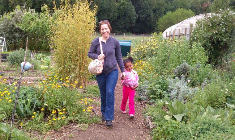 Jessica Lamb of San Jose, Calif., and her daughter Kailani.