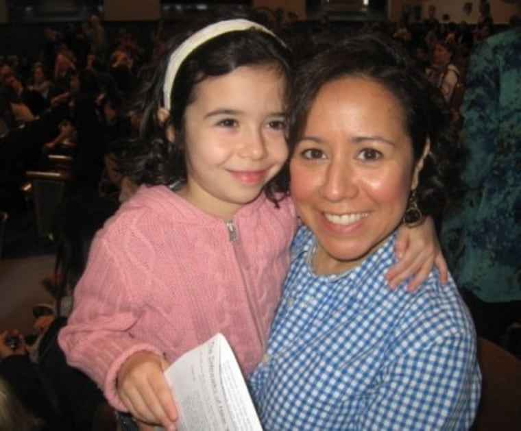TODAY show producer Alicia Ybarbo and her daughter, Lucy.