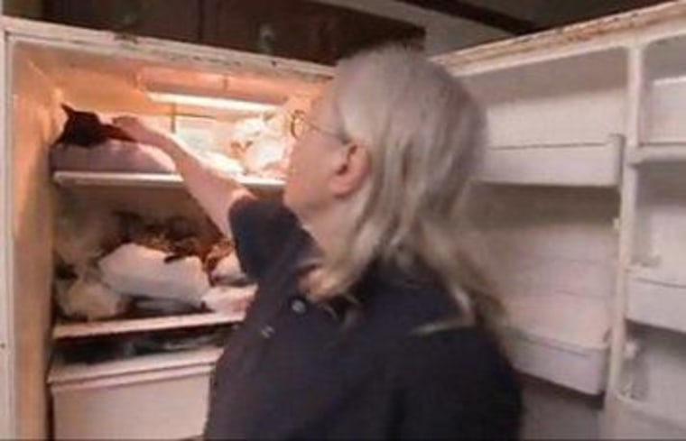 """Terry reveals her refrigerator of horrors on """"Hoarders."""""""