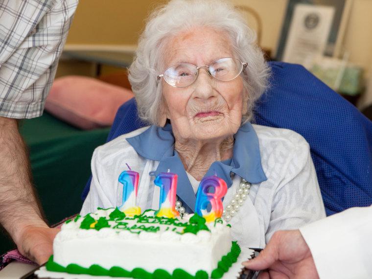 Besse Cooper celebrates her 116th birthday in Monroe, Ga., on August 26.