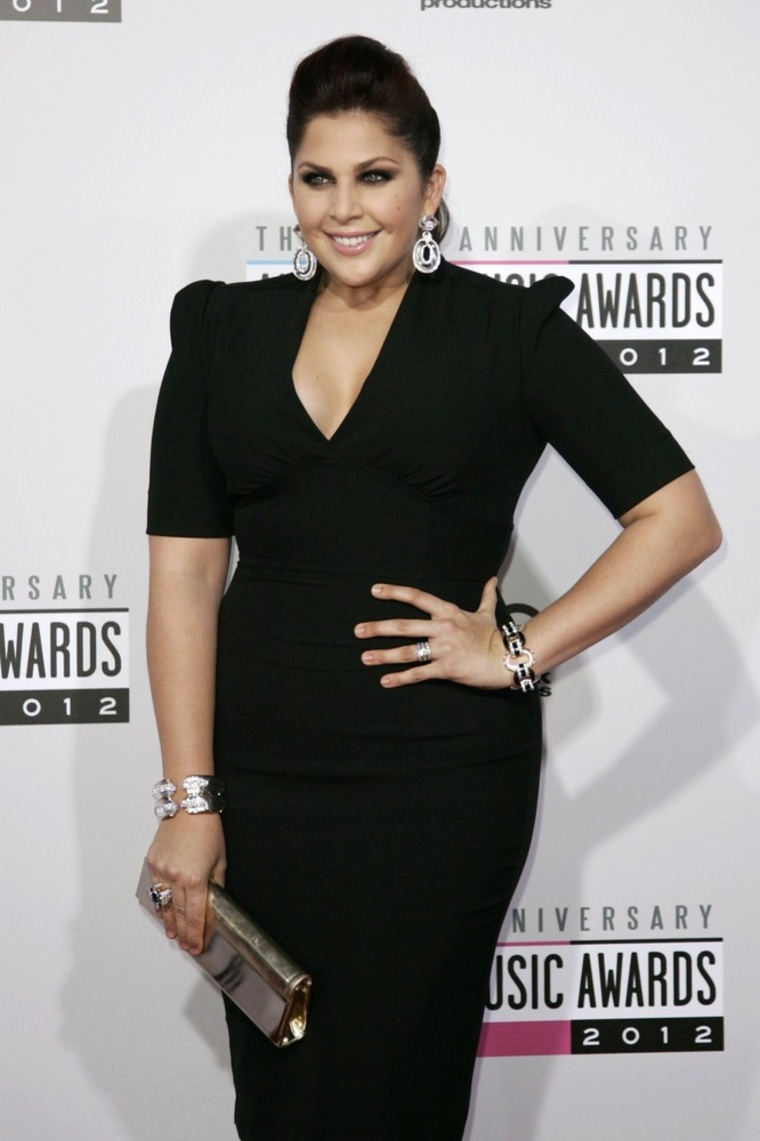 Hillary Scott at the 40th American Music Awards in Los Angeles on Nov. 18.
