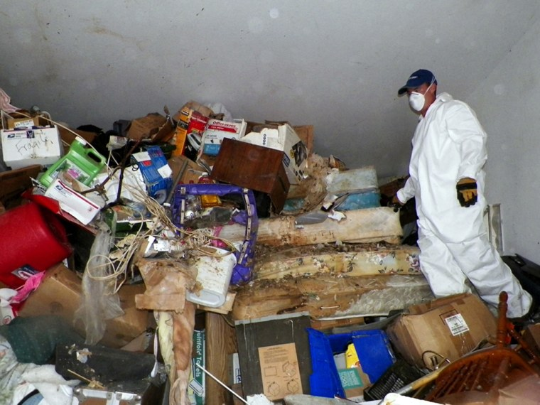 At least 15 truckloads of items were hauled from Kenneth Epstein's home on Oct. 5, the Las Vegas Review-Journal reported.
