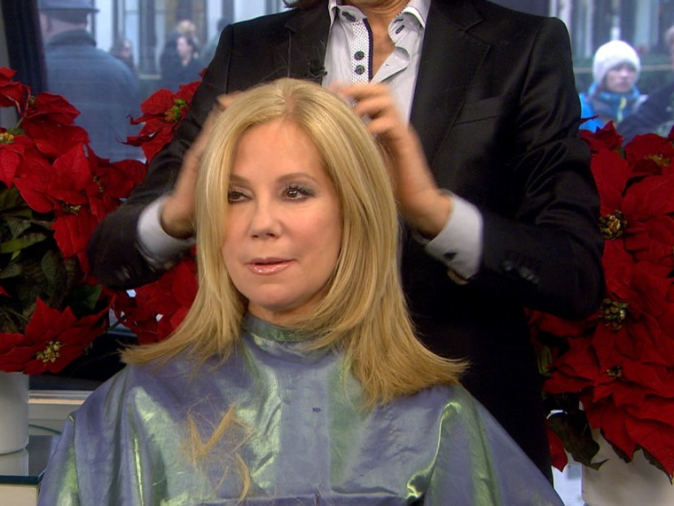 Kathie Lee Gets A Live Edward Scissorhands Style Haircut
