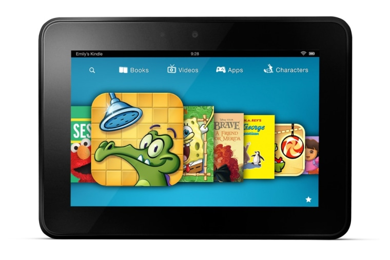 This image provided by Amazon shows a new subscription service for children's games, videos and books aimed at getting more kids to use its Kindle Fire tablet devices.