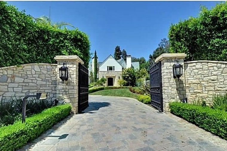 This Beverly Hills home is listed for $25.58 million, and the driveway is paved with stone rather than yellow bricks.