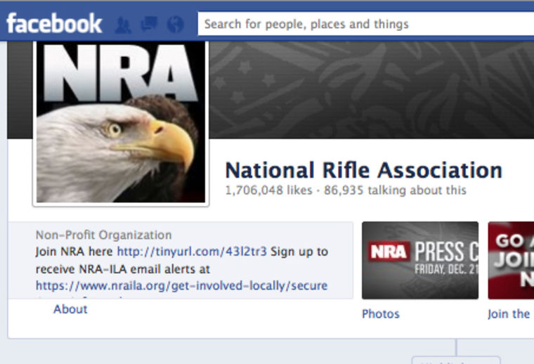 NRA Facebook page Dec. 18, 2012