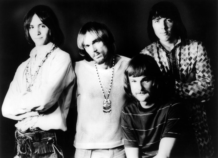Iron Butterfly in 1969. From left, band members are Erik Brann, Ron Bushy, Lee Dorman, and Doug Ingle. Dorman, the band's bassist, has died at age 70.